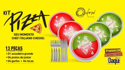 2f71049ae171 A promoção Kit Pizza é válida de 10/06 a 21/08/2019. O brinde da promoção é  composto por 13 peças, sendo: